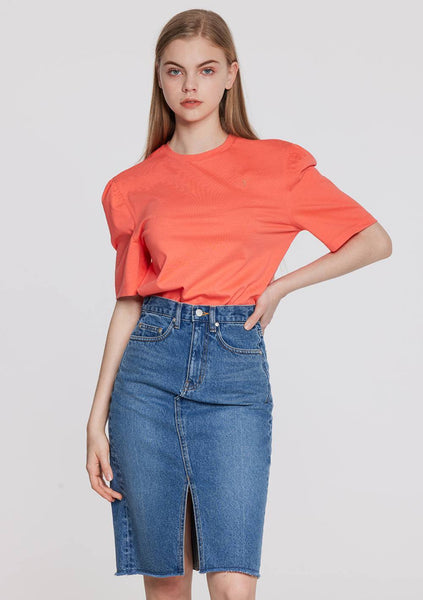 Puff Sleeves Top (Orange)
