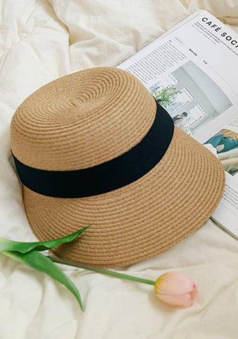 Cozy Summer Straw Visor