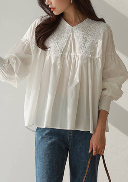A Little Bit Like Me Lace Collar Blouse