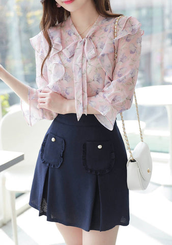 Soft Flower Blouse