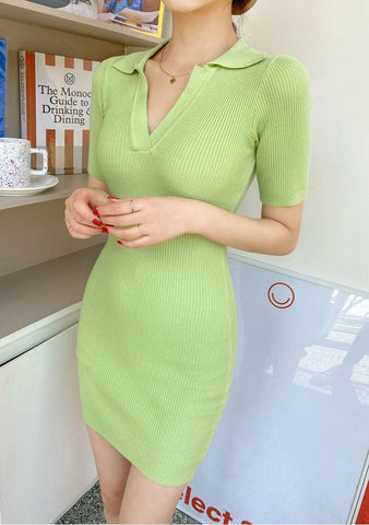 Hold Me Tigh Ribbed Knit Dress