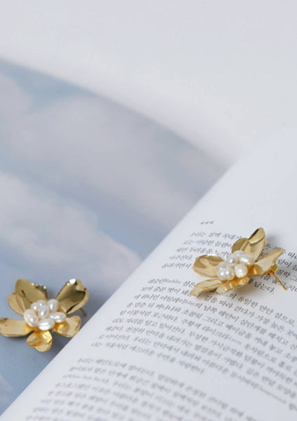 Gold Blossom Earrings