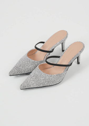 Girl Power Pointed Mules Heels