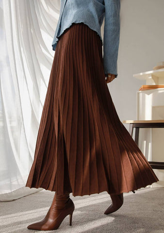 You Can Count On Me Pleats Long Skirt