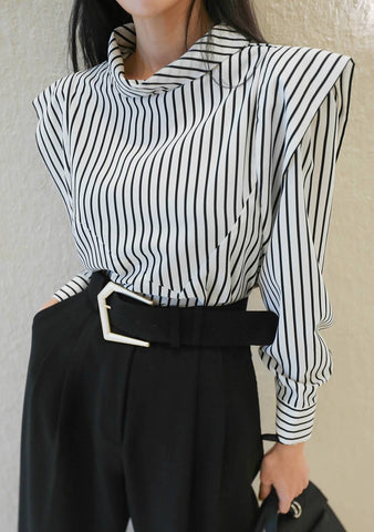 All I Do Is Win Stripes Blouse