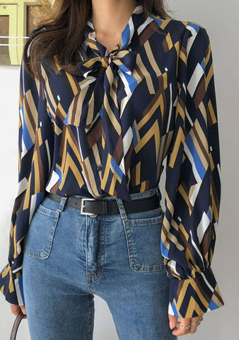 What This Is About Print Blouse
