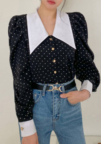 I Can Tell You Everything Dots Blouse