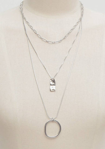 Picking Is Fun Triple Chain Necklace