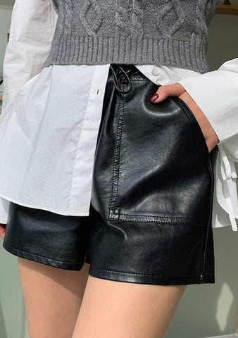 The City Lights Leather Shorts