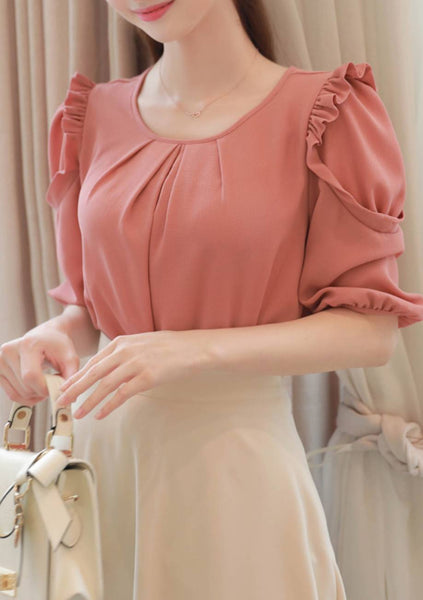 Stare At The Stars Ruffle Blouse