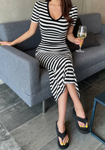 Chroma Stripes Long Dress