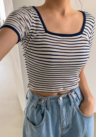 She Is A Keeper Stripes Crop Top