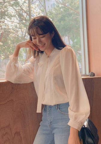 Only One Thing Ribbon Front Blouse