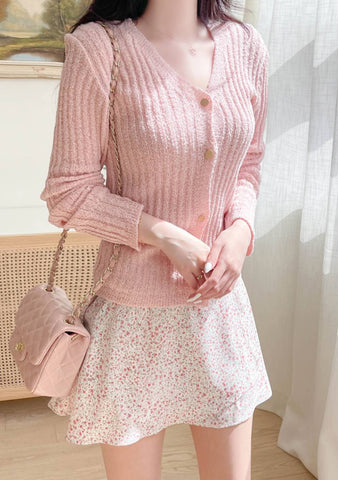 Lottie Ribbed Knit Cardigan Set