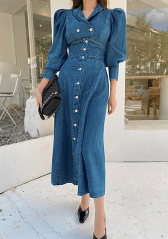 Do I Wanna Know Puff Denim Dress