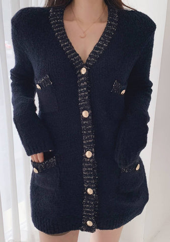 Spring Into Fall Wool Long Cardigan