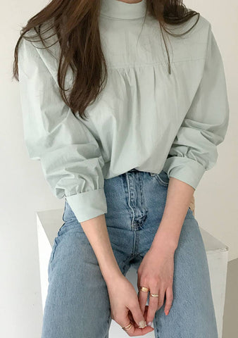 Come As You Are Tie Back Puff Blouse