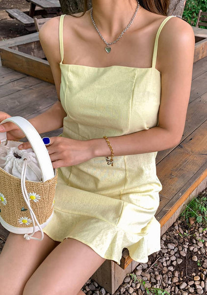 Under The Weight Of Thing Linen Slip Dress