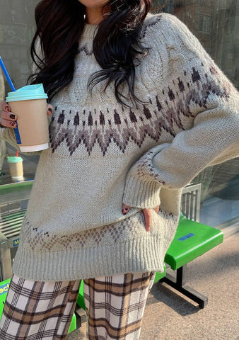 Keep Smiling Knit Sweater