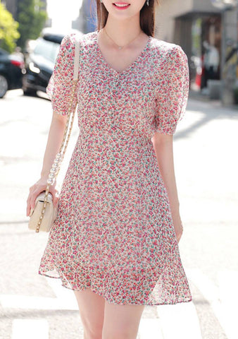 True Power Of Flower Puff Dress