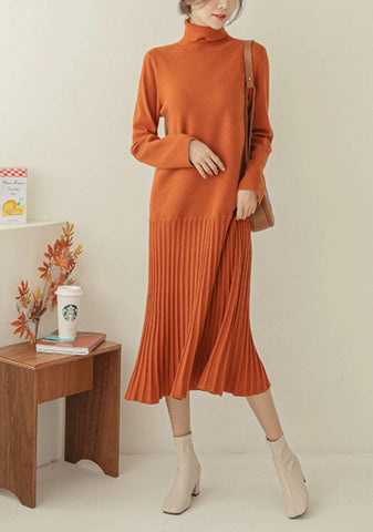 Move Over Darling Turtleneck Knit Dress