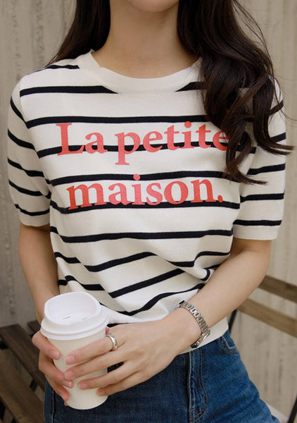 La Petite Maison Stripes Knit Top