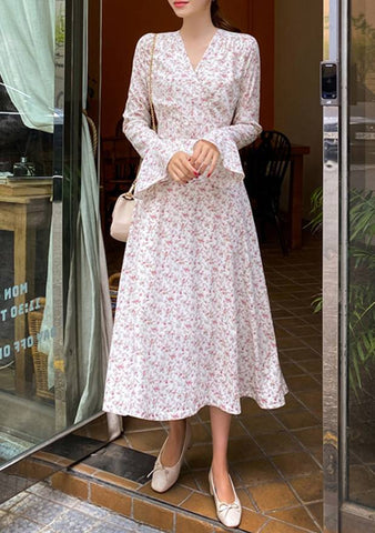 Room 508 Bell Sleeves Floral Dress