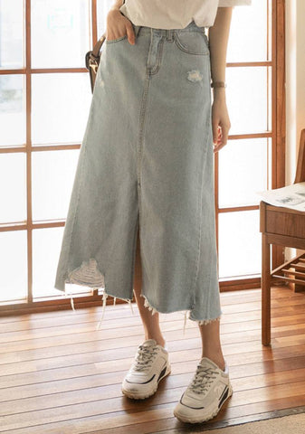 Melodies Of Life Denim Long Skirt