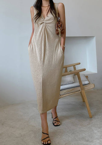 Like Shadows Linen Sleeveless Dress
