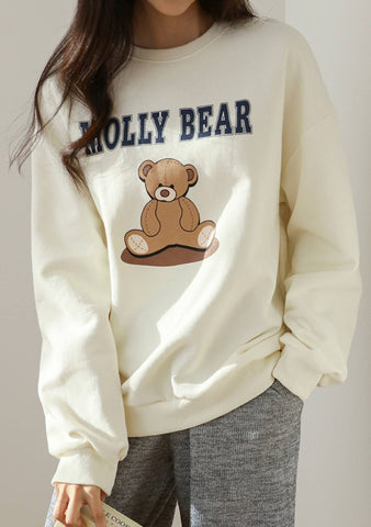 Molly Bear Printed Sweatshirt