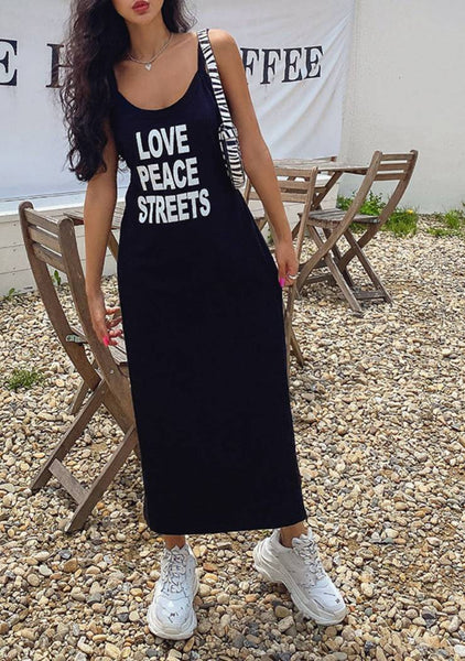 Love Peace And Street Sleeveless Dress
