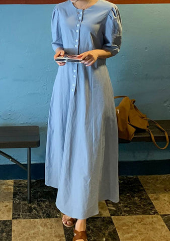 Echo Linen Long Dress