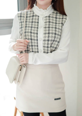 Illuminator Of The Night Tweed Blouse