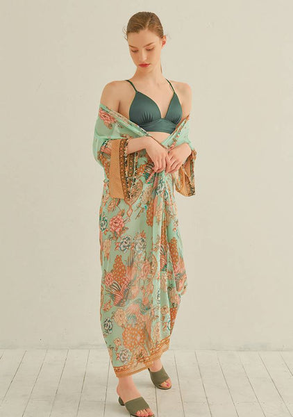 Girls Just Wanna Have Sun Printed Robe