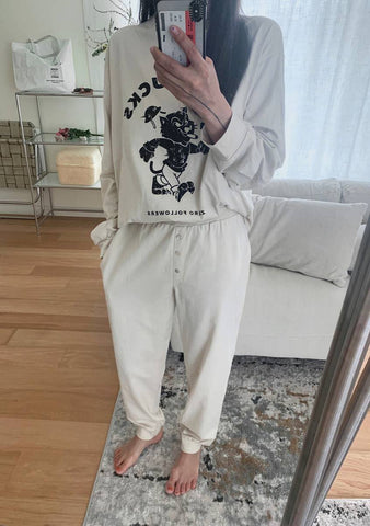 Hello There Sweatshirt Pants Set