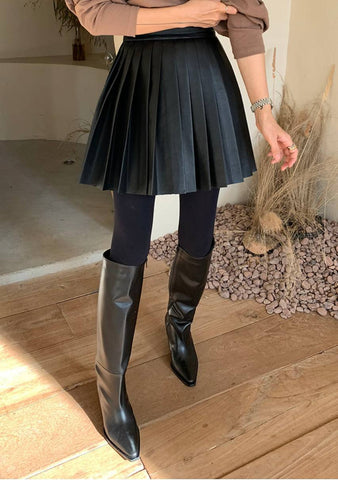 Leather Tennis Skirt