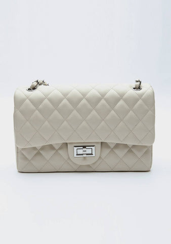I Am Paying Attention Quilted Shoulder Bag