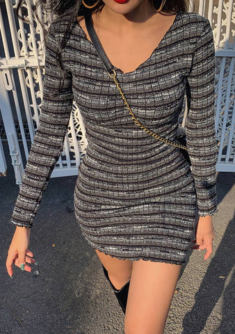 Hold One Stripes Knit Dress