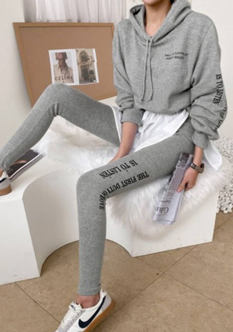 Relaxed Dinner Party Hoodie Leggings Set