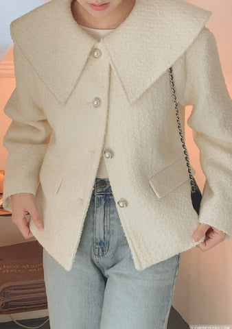 Already Yours Maxi Collar Wool Jacket