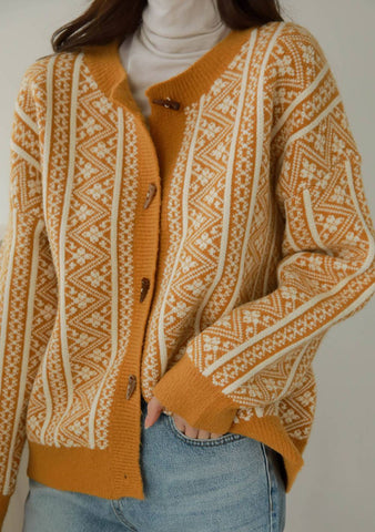 Nordic Inspiration Patterned Cardigan
