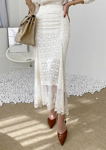 Maybe You Can Show Me How To Love Lace Skirt
