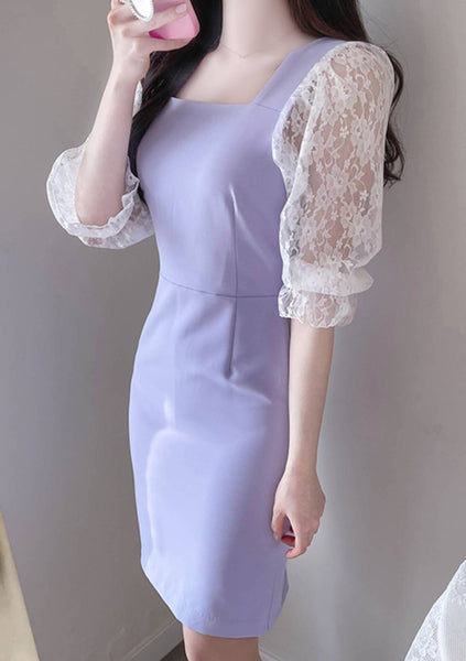 Every Day Of My Life Lace Sleeves Dress