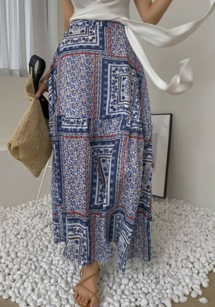 Art History Paisley Print Long Skirt
