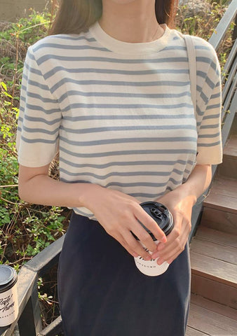 Do You Have Any Question Stripes Knit Top