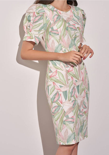 Tropical Puff Dress