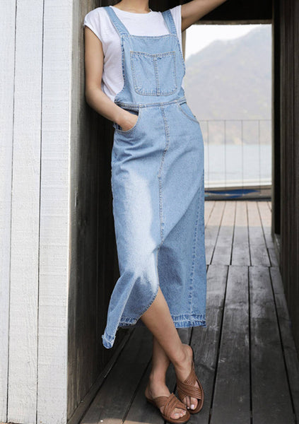 Looking Forward To That Denim Overall Dress