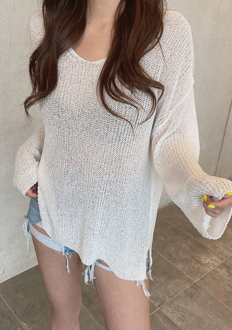 I Am Ready Loose Knit Top