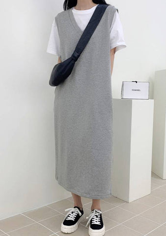 Subtle Shifts Long Knit Dress