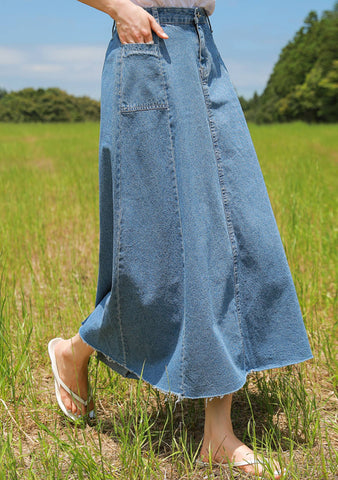 I Choose To Be Happy Denim Skirt